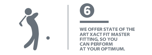 We offer state of the art Xact Fit Master fitting.